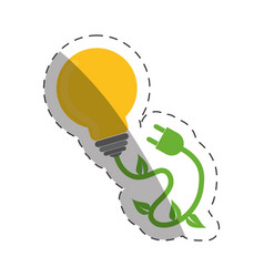 environment bulb plug electricity vector image