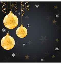 Golden shining christmas decorations vector