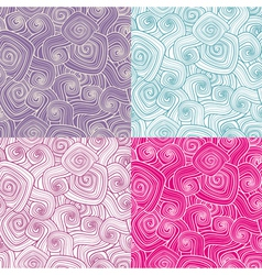 set of decorative seamless patterns vector image vector image