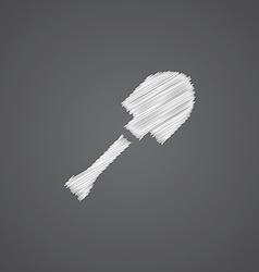 shovel sketch logo doodle icon vector image