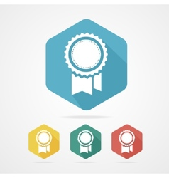 Award icon flat style with long shadow vector