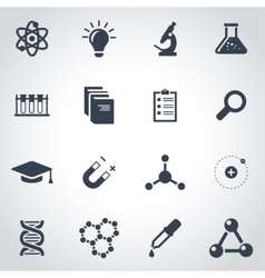 black science icon set vector image