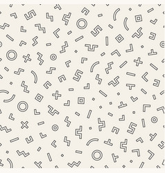 Scattered geometric shapes inspired by memphis vector
