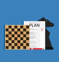 strategic business plan vector image