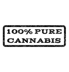 100 percent pure cannabis watermark stamp vector image