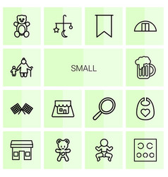 14 small icons vector