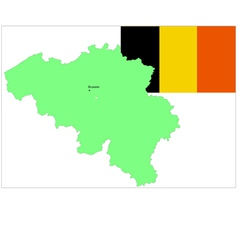 6138 belgium map and flag vector