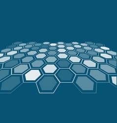 abstract art backdrop hexagonal style vector image