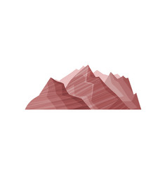 abstract brown mountain outdoor design element vector image