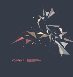 abstract color triangle shape on dark background vector image