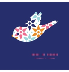 Abstract colorful stars bird silhouette vector