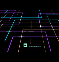 Abstract vibrant color geometric lines overlap vector