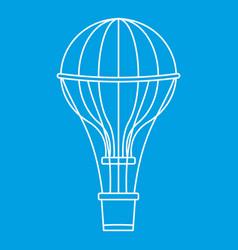 Aerostat balloon icon outline style vector