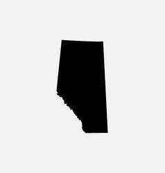 Alberta canada map black silhouette vector