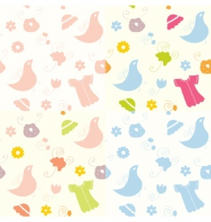 baby seamless patterns vector image