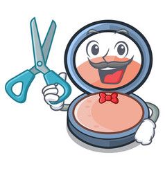 Barber blush on a cartoon makeup bag vector