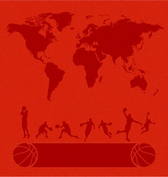 Basketball set texture background vector