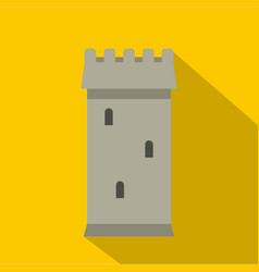 battle tower guarding the fortress icon vector image
