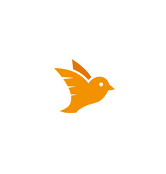 Bird dove open wings flying logo design vector