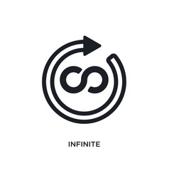 Black infinite isolated icon simple element from vector