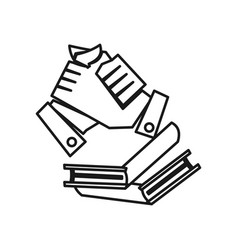 Book education hand commitment teamwork together vector