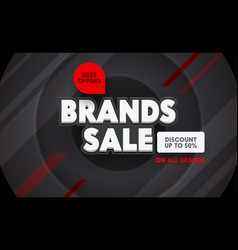 brand sale advertising banner with typography on vector image
