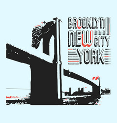 Brooklyn new york city t-shirt print design vector