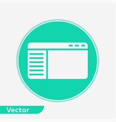 browser filled icon sign symbol vector image