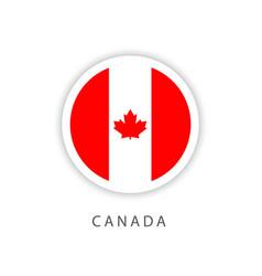 Canada circle flag template design vector
