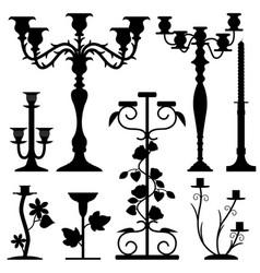 candlestick holder home interior old design a set vector image