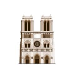 Cathedral Notre-Dame de Paris in France - 2 vector