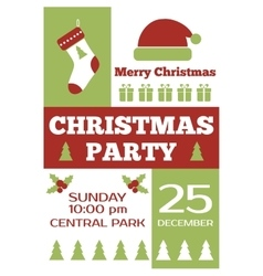 Christmas party invitation poster flyer vector