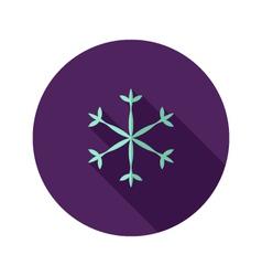 Christmas Snowflake Flat Icon vector image