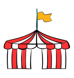 circus tent icon cartoon vector image