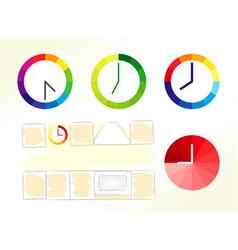 clocks design concept vector image