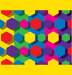 colorful hexagonal pattern vector image