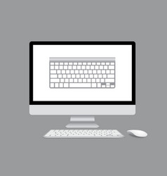 Computer display isolated vector image