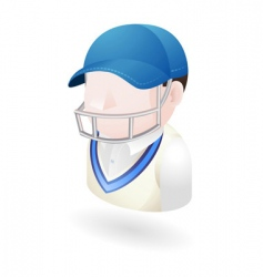 cricketer illustration vector image