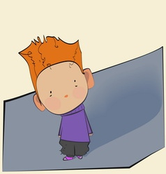cute little boy with red hair vector image