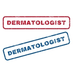 Dermatologist Rubber Stamps vector