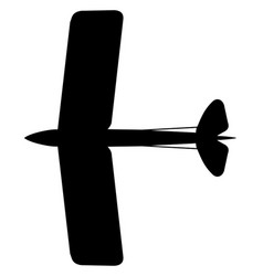 Dh tiger moth top silhouette vector