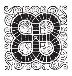 doodad have a dark circular pattern vintage vector image