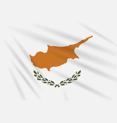 Flag of cyprus swaying in wind realistic vector