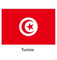 Flag of the country tunisia vector