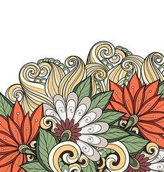 Floral decorative design vector
