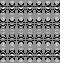 Floral pattern seamless background monochrome vector