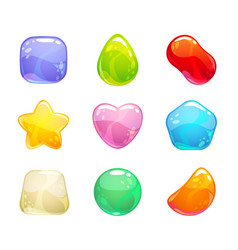 funny cartoon colorful jelly candies set vector image vector image