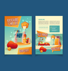 Furniture store brochure flyer with goods vector
