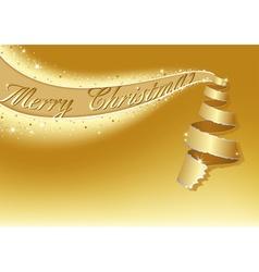 Golden Christmas Tree vector image vector image