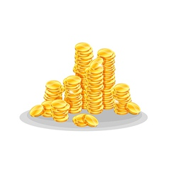 Golden coins vector